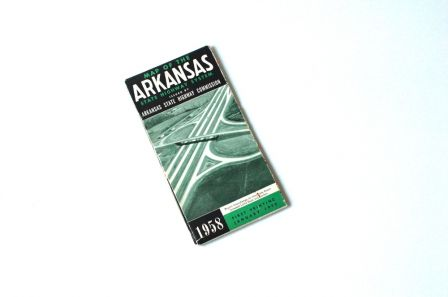 Carte routière Arkansas 1958